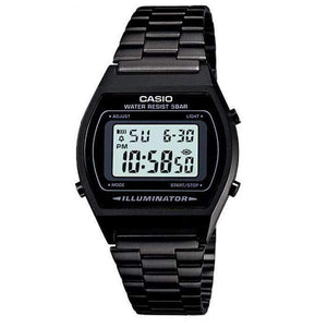 Casio Vintage B640WB-1A Black Stainless Steel Watch For Men and Women