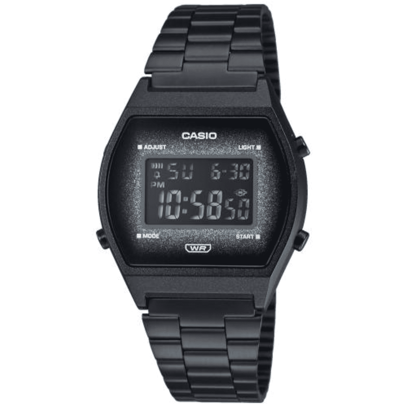 Casio B640WBG-1BDF Black Stainless Strap Watch for Men and Women
