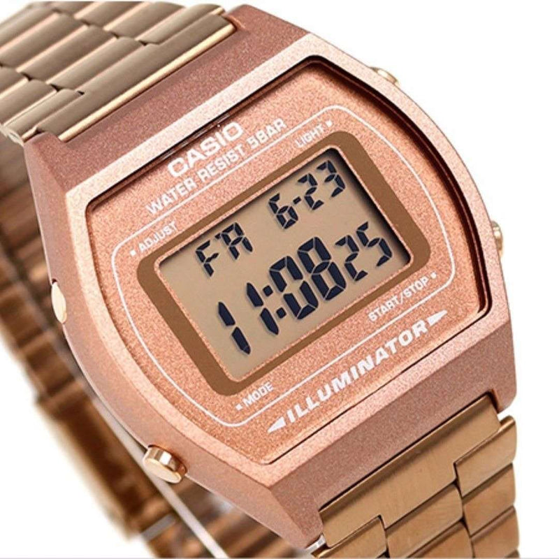 Casio Vintage B640WC-5A Rose Gold Watch for Men and Women