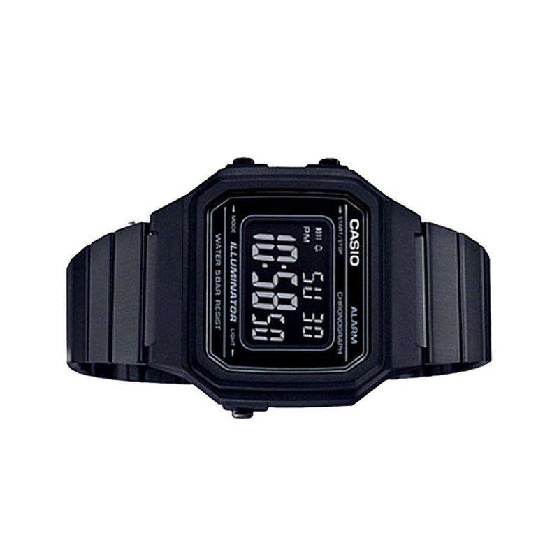 Casio Vintage B650WB-1B Black Stainless Steel Strap Watch for Men and Women