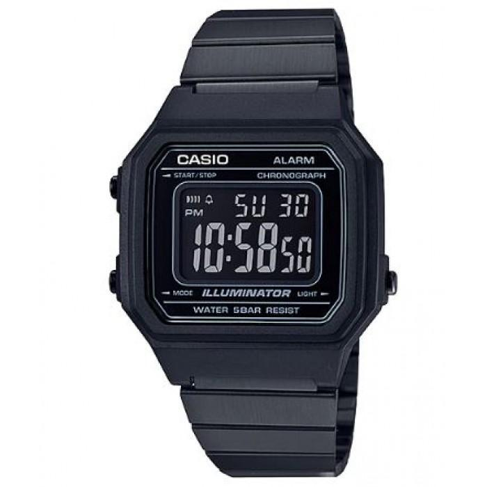 Casio Vintage B650WB-1B Black Stainless Steel Strap Watch for Men and Women - Watchportal Philippines