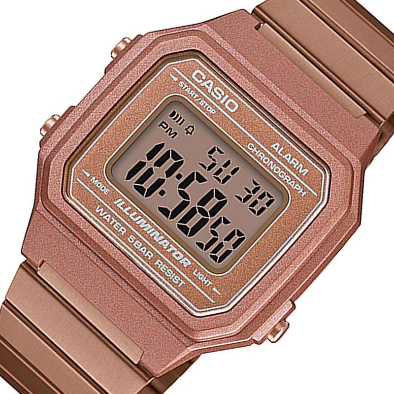 Casio Vintage B650WC-5A Rose Gold Watch for Men and Women