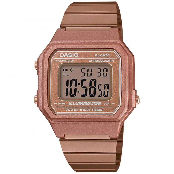 Casio Vintage B650WC-5A Rose Gold Watch for Men and Women - Watchportal Philippines