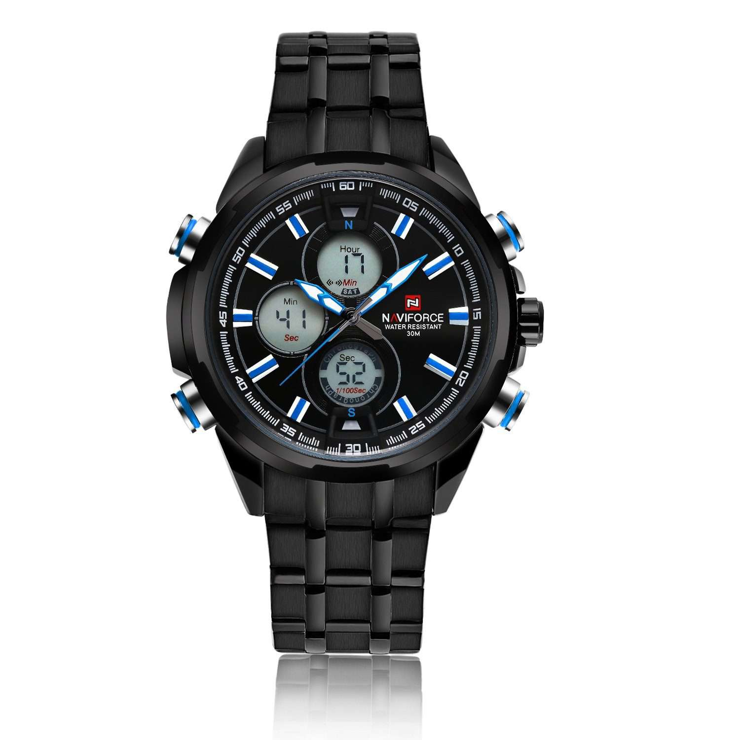 Naviforce NF9049-BBBE Stainless Steel Mens Watch