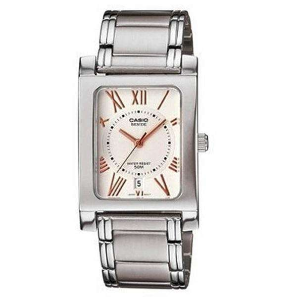 Casio BEM-100D-7A3VDF Silver Stainless Watch for Men and Women