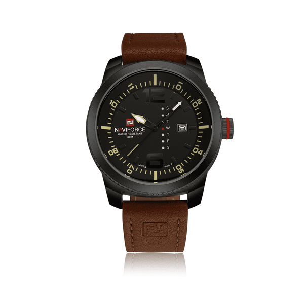Naviforce NF9063-BYBN Leather Strap Mens Watch