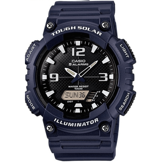 Casio AQ-S810W-2A2 Navy Blue Solar Powered Watch for Men - Watchportal Philippines