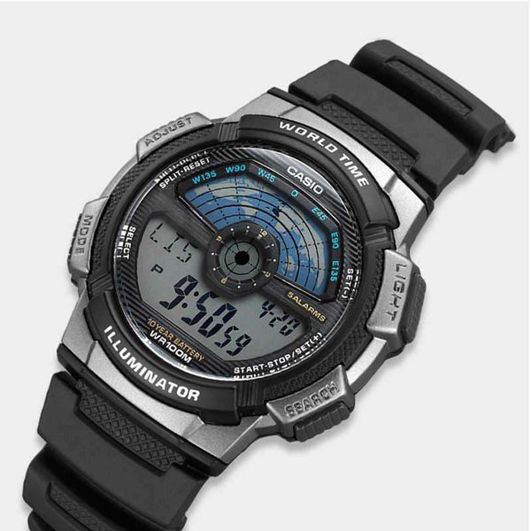 Casio AE-1100W-1A Black Resin Strap Watch For Men