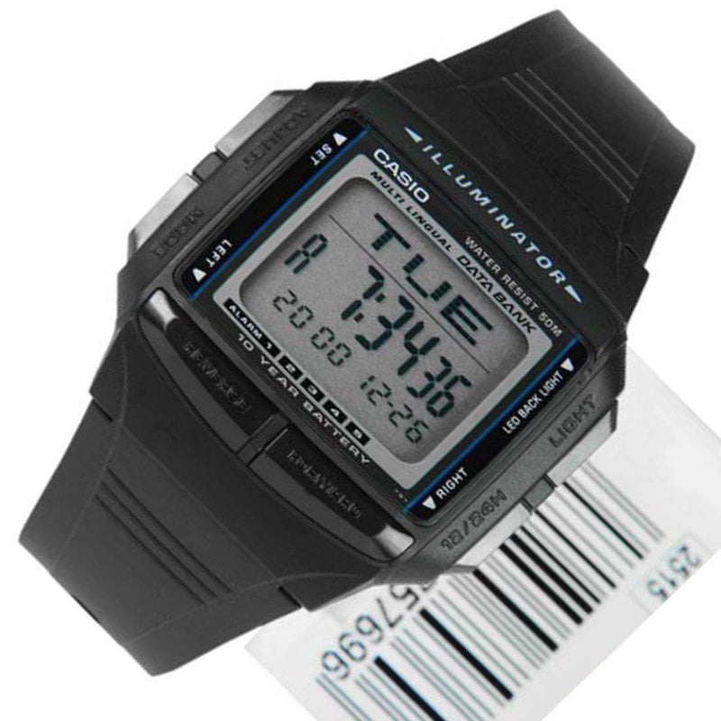 Casio DB-36-1A Black Resin Watch for Women and Men