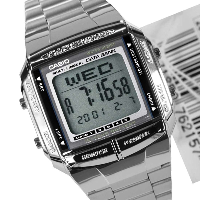 Casio Vintage DB-360-1A Silver Stainless Watch For Men and Women