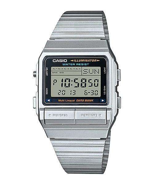 Casio Vintage DB-380-1D Silver Stainless Watch For Men and Women