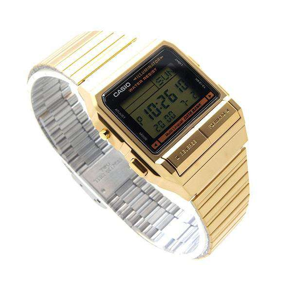 Casio Vintage DB-380G-1D Gold Plated Watch For Men and Women