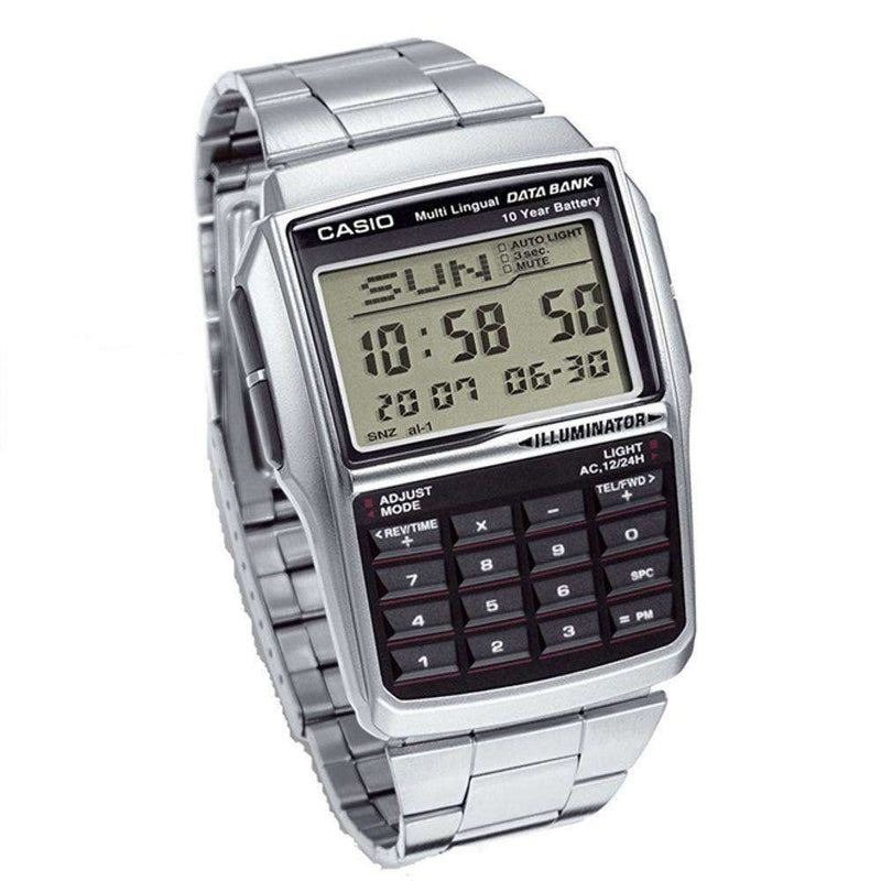 Casio DBC-32D-1A Silver Stainless Calculator Watch for Men and Women