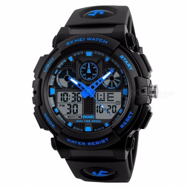 SKMEI 1270 Blue with Rubber Strap Watch for Men - Watchportal Philippines