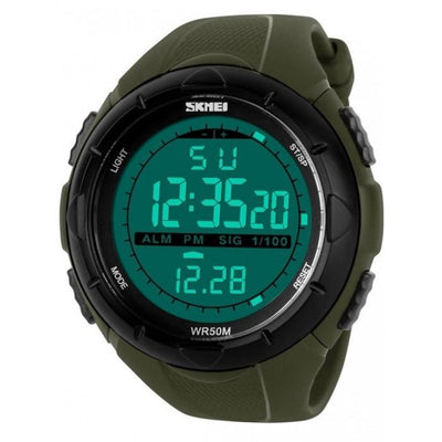 SKMEI DG1025 Army Green Rubber Strap Watch for Men - Watchportal Philippines