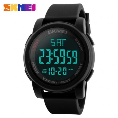 SKMEI 1257 Black Silicon Strap Watch for Men and Women - Watchportal Philippines
