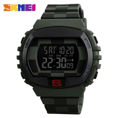 SKMEI 1304 Army Green Rubber Strap Watch for Men - Watchportal Philippines