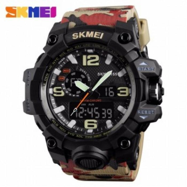 SKMEI AD1155 Camouflage Silicon Strap Watch for Men - Watchportal Philippines