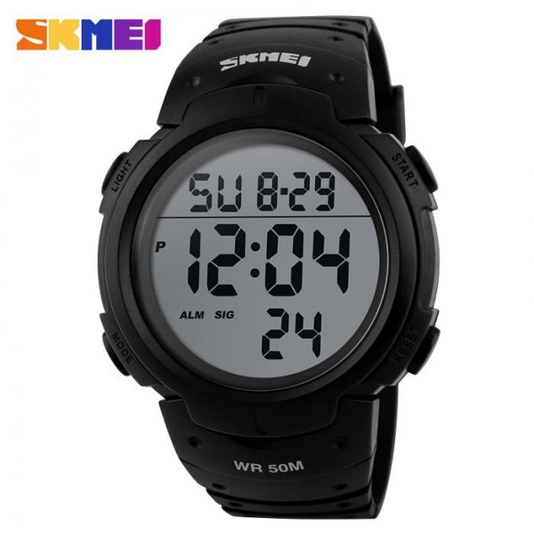 SKMEI DG1068 Black Rubber Strap Watch for Men and Women - Watchportal Philippines