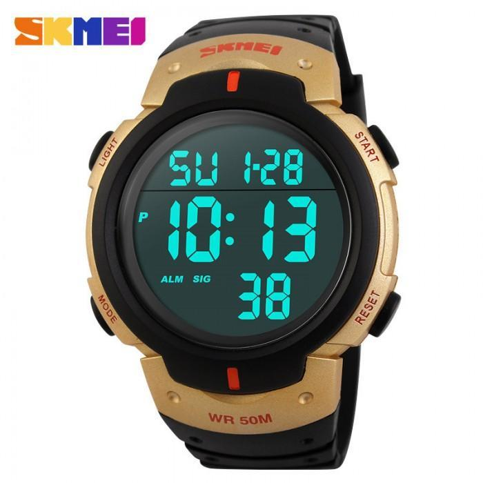 SKMEI DG1068 Gold with Rubber Strap Watch for Men and Women - Watchportal Philippines