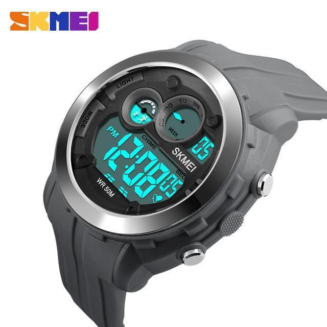 SKMEI DG1234 Gray Rubber Strap Watch for Men - Watchportal Philippines