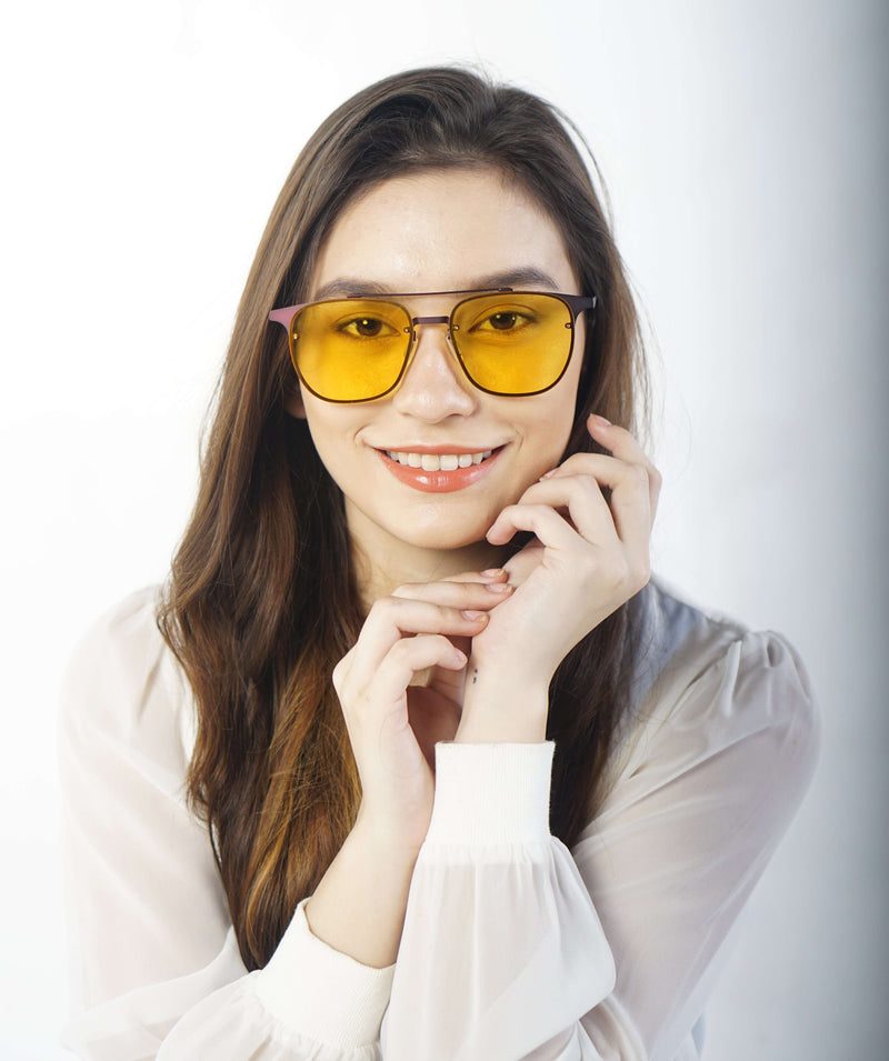 EyeMarie Jamila-Yellow UV400 Protection Sunglass for Women