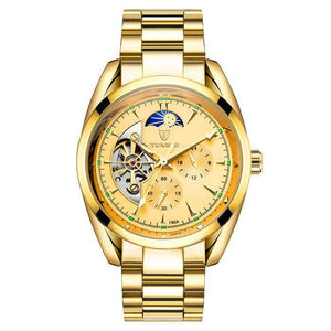 TEVISE 795A Gold/Gold Automatic Men's Watch