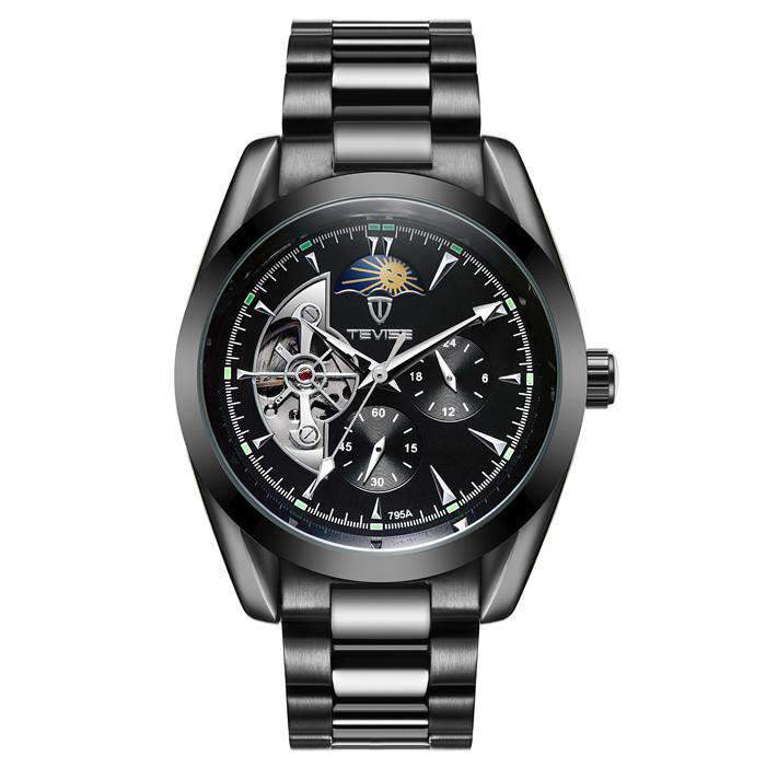 TEVISE 795A Black/Black Automatic Men's Watch