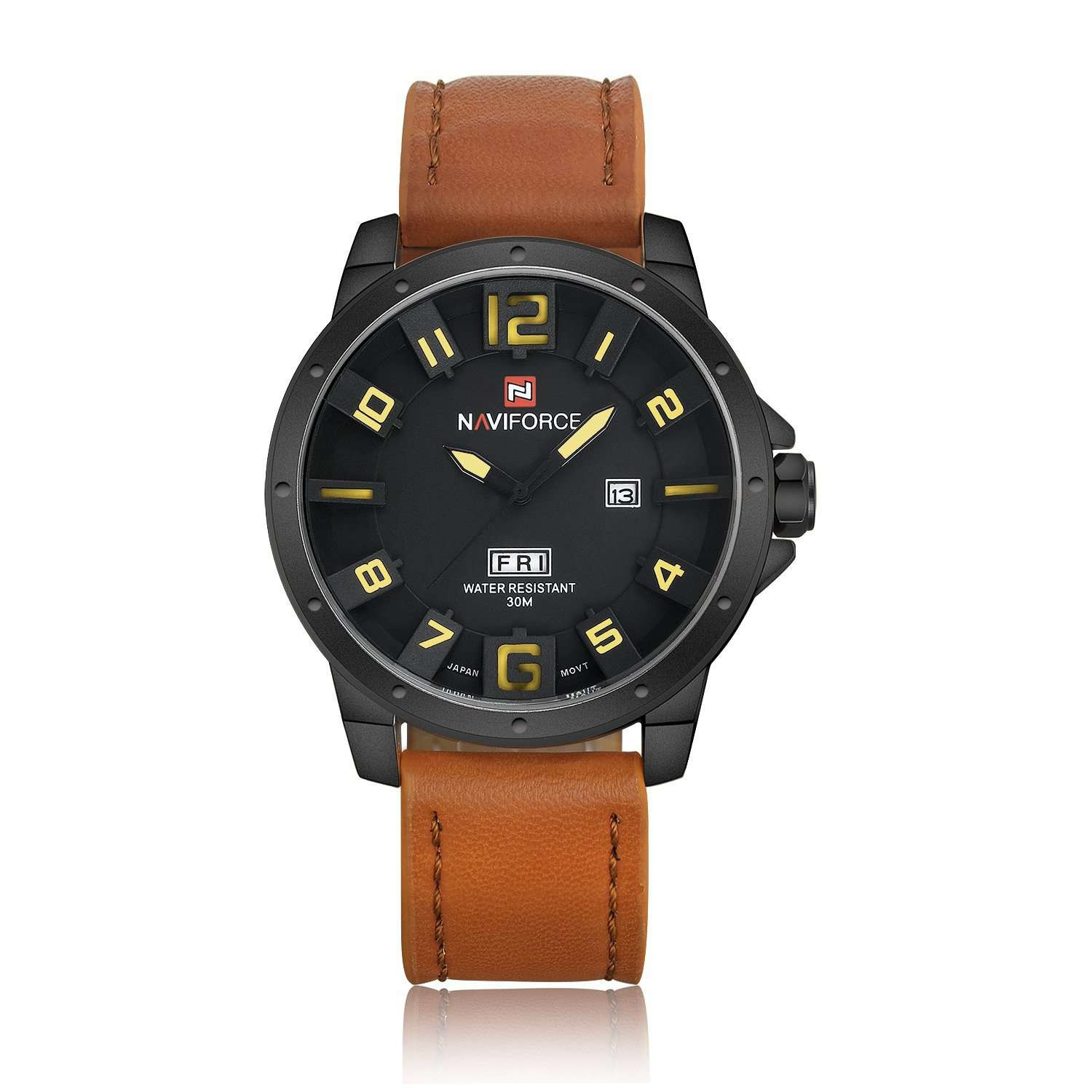 Naviforce NF9061-BYBN Leather Strap Mens Watch