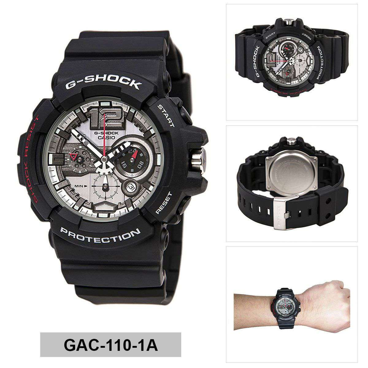 Casio G-Shock GAC-110-1ADR Watch for Men