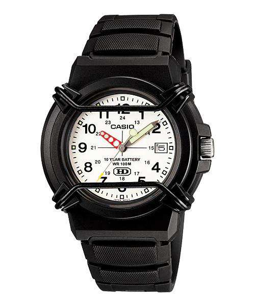 Casio Standard HDA-600B-7BV Black Resin Strap Watch for Men and Women