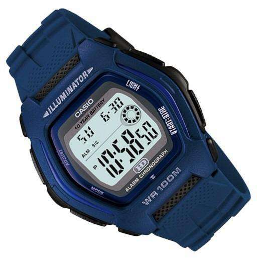 Casio Standard HDD-600C-2A Blue Resin Strap Watch for Men