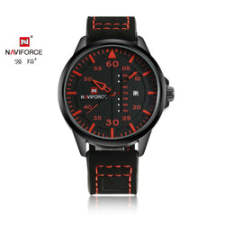 Naviforce NF9074-BRB Leather Mens Watch