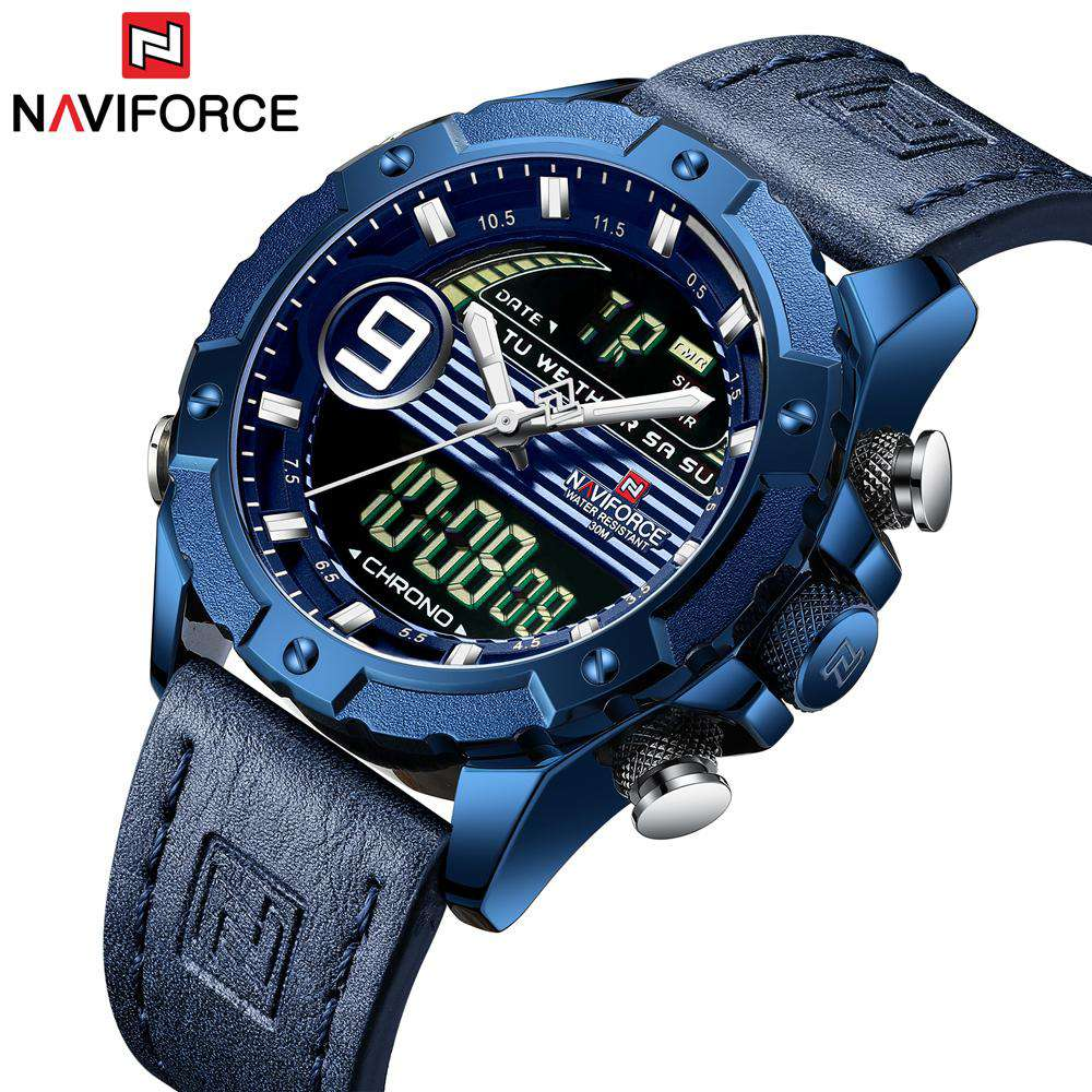 Naviforce NF9146-BEWBE Leather Strap Men's Watch