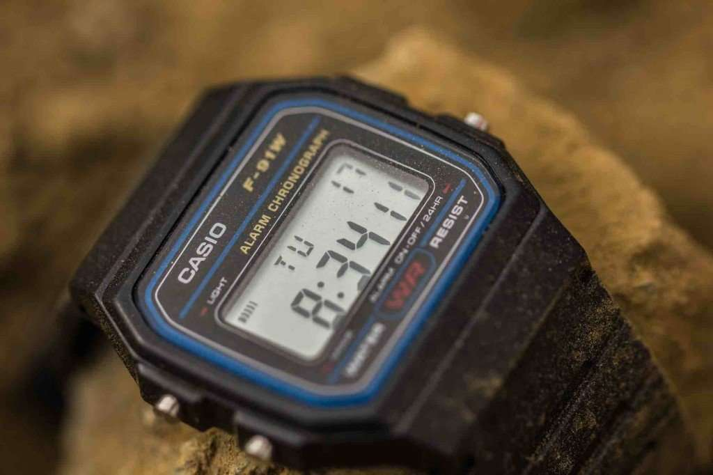Casio  F-91W-1D Black Resin Strap Watch for Men and Women - Watchportal Philippines