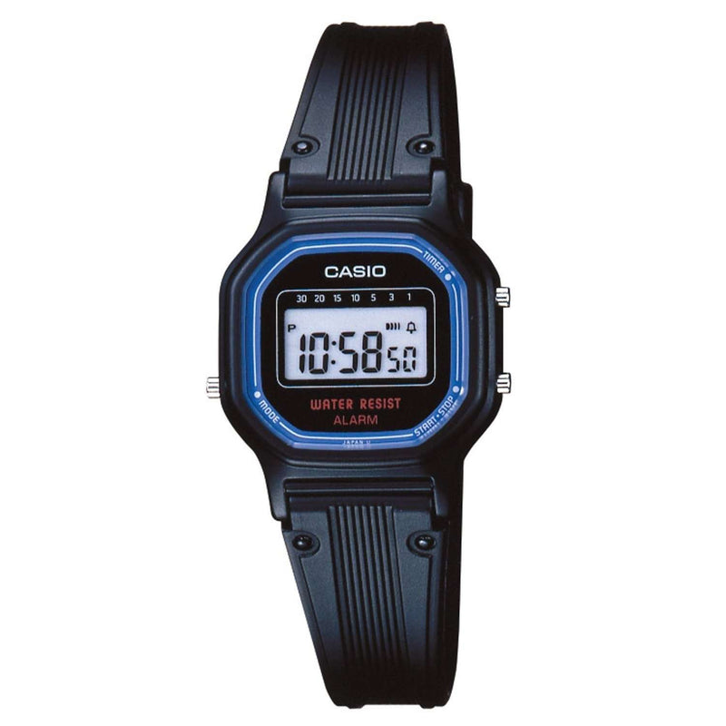 Casio LA-11WB-1WDF Black Resin Strap Watch for Women