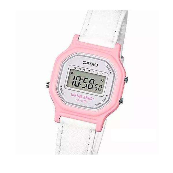 Casio LA-11WL-4AVDF Pink Leather Strap Watch for Women