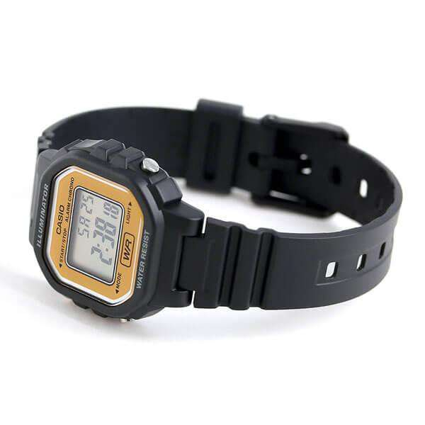 Casio LA-20WH-9ADF Black Resin Strap Watch for Women