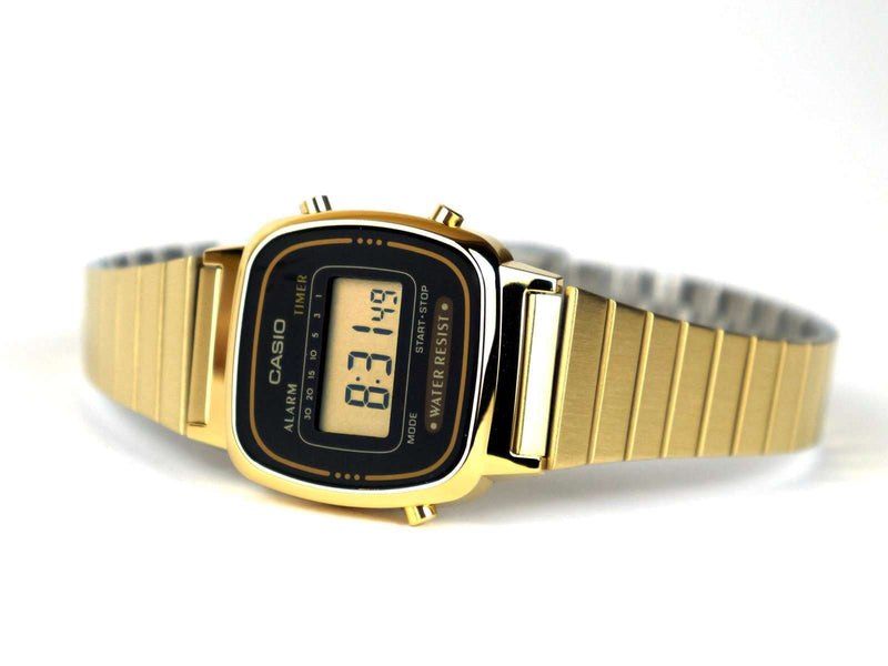 Casio Vintage LA670WGA-1D Gold Plated Watch for Women