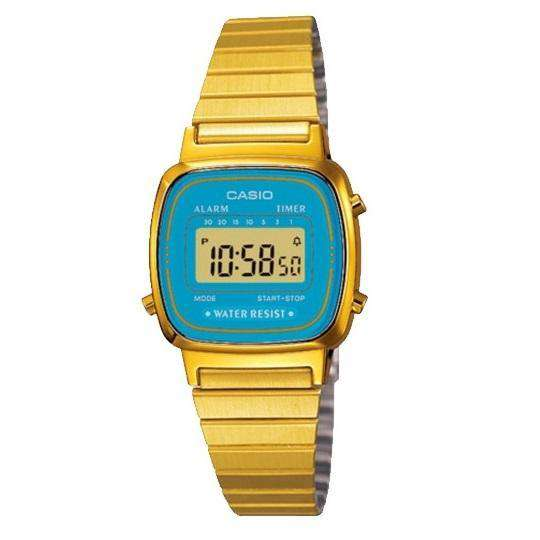 Casio Vintage LA670WGA-2D Gold Plated Watch for Women