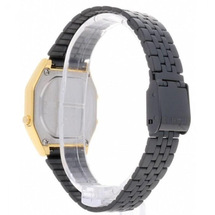 Casio Vintage LA680WEGB-1A Black Plated Stainless Steel Watch for Women - Watchportal Philippines