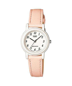 Casio Analog LQ-139L-4B2 Peach Leather Strap Women's Watch