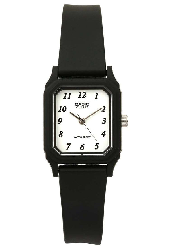 Casio LQ-142-7BDF Black Rubber Strap Watch for Women