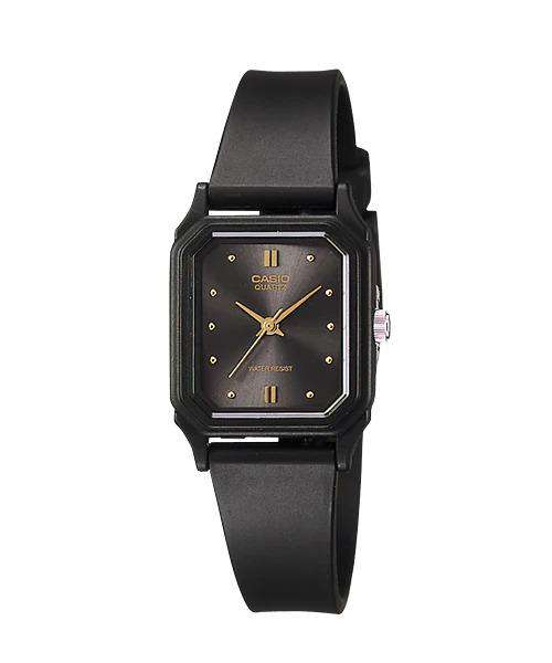 Casio LQ-142E-1ADF Black Rubber Strap Watch for Women