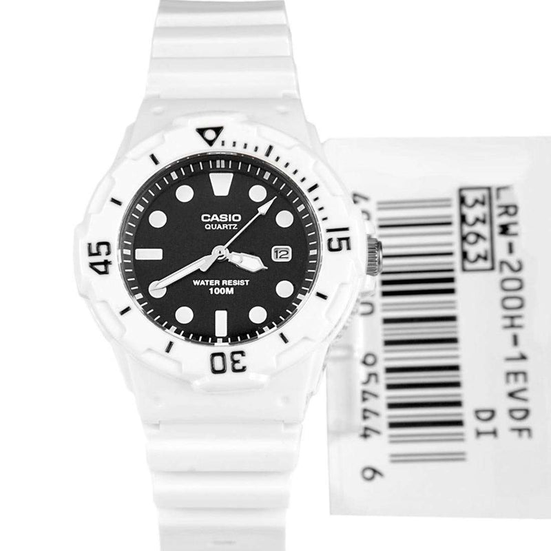 Casio LRW-200H-1E White Resin Strap Watch for Women