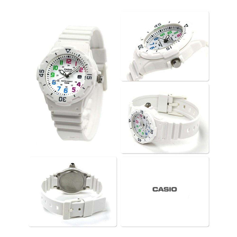 Casio LRW-200H-7B White Resin Strap Watch for Women