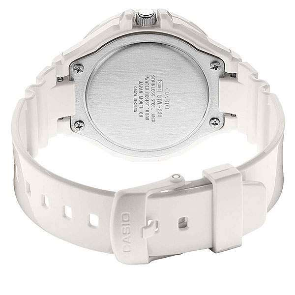 Casio LRW-250H-9A1 White Resin Strap Watch for Women