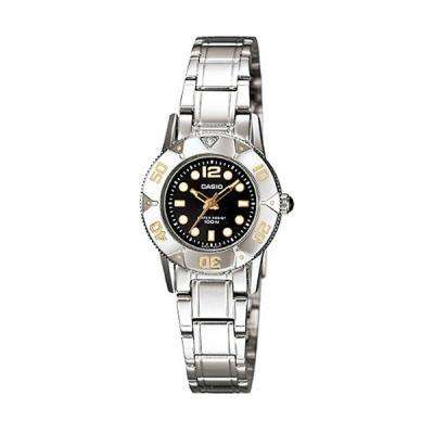 Casio LTD-2001D-1AVDF Silver Stainless Steel Strap Watch for Women