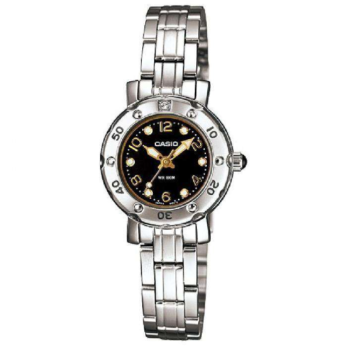 Casio LTD-2002D-1AVDF Silver Stainless Steel Strap Watch for Women