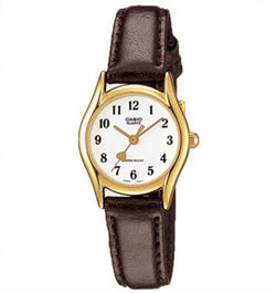 Casio LTP-1094Q-7B5RDF Black Leather Watch for Women